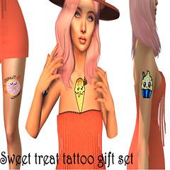 sweet treat tattoo gift set