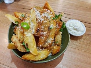 Parmesan Fries with Aioli at The Green Edge