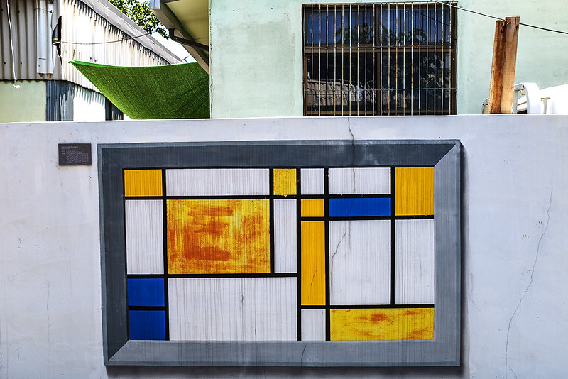 Mondrian on wall of a press die factory in Gamjeon-dong--Busan