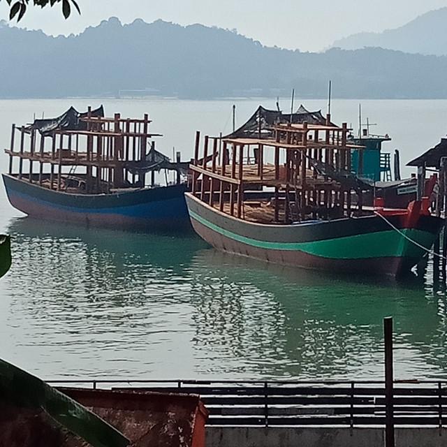 Boat building at pulau pangkor