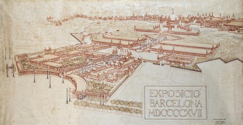 Proyecto de Puig i Cadafalch para la expo de 1917