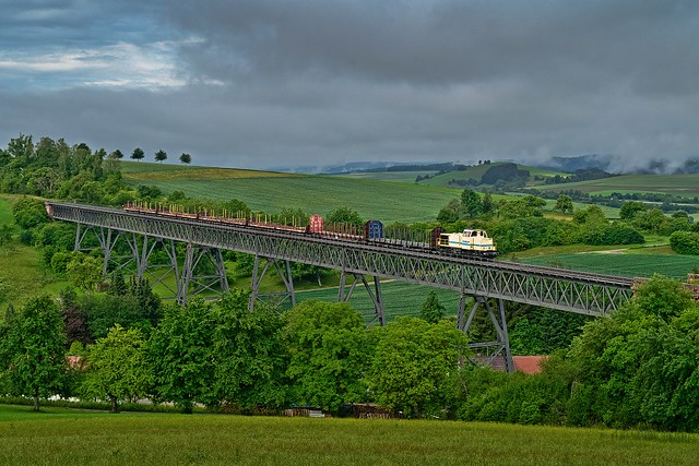 1. kommerzieller Güterzug seit 65 Jahren ...