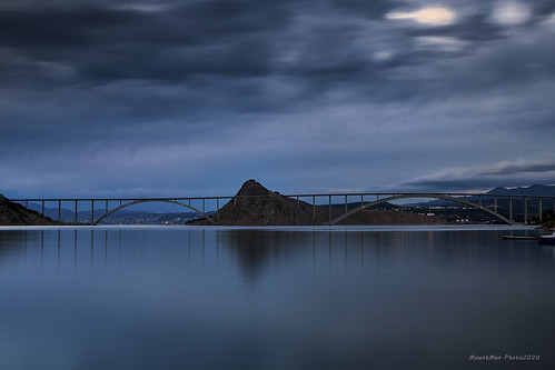 krckimost uvalavoz otokkrk primorskogoranska croatia landscape krajolik most bridge plavaura bluehour flickrunitedaward