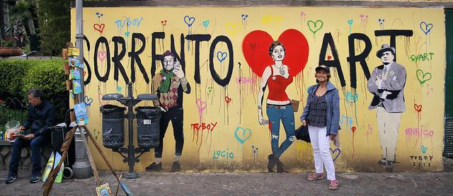 Banksy-style art by TvBoy in Sorrento