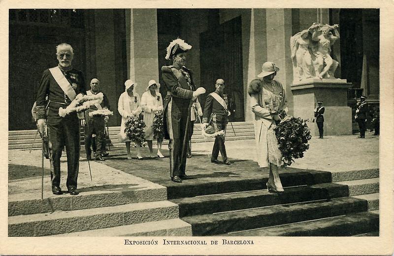 Alfonso XIII y Victoria Eugenia. Exposición de Barcelona 1929