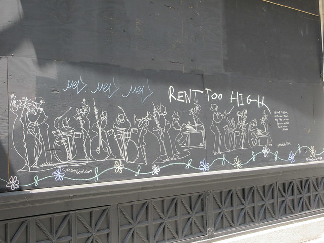 2020 June Black Lives Matter Chalk Political Graffiti Downtown 7361