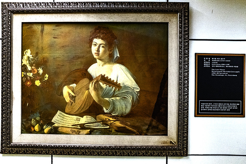 Reproduction of Caravaggio inside Seomyeon Station--Busan