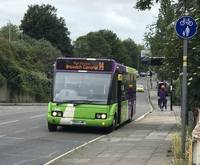 Ipswich Buses Optare Solo 241 YN04 LWK