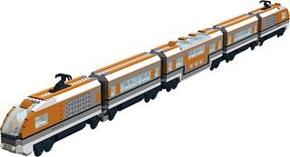 Nexus Force - futuristic space train MOC v2 - front