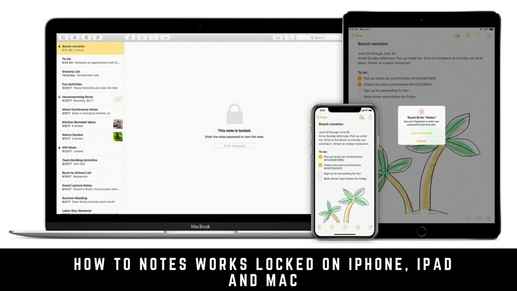 How to Notes works locked on iPhone, iPad and Mac