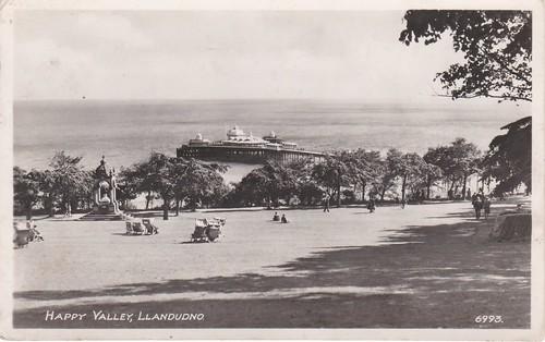 Happy Valley, Llandudno Postcard
