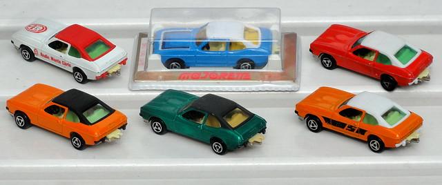 6 different Majorette Ford Capri Mark 2
