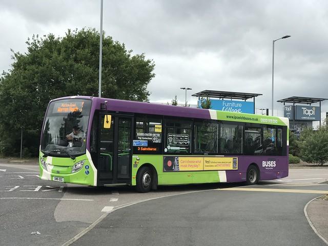 Ipswich Buses ADL Enviro 200 101 SN16 OGG