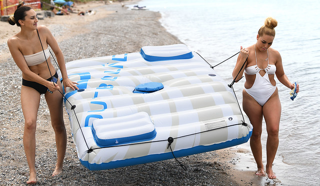 Two Friends and  a Raft