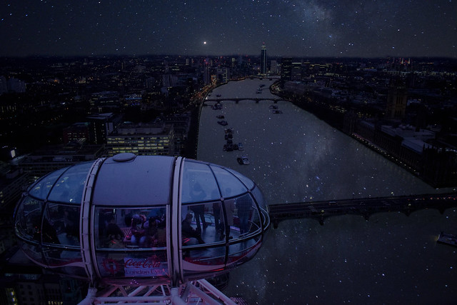 Photoshop: The Milky Way in the London Eye