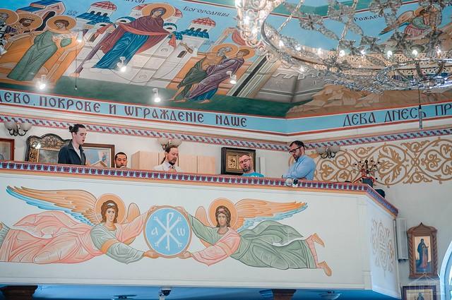 21 июня 2020 г. Божественная Литургия в Неделю всех святых в земле Русской просиявших