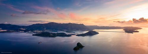 shatindistrict hongkong patsinleng sammuntsai 八仙嶺 taipo sunrise twilight dawn drone aerial aerialview landscape seascape seaside panorama 6524 solstice