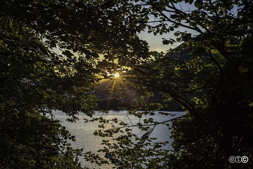 Sunset on Lake Como, from Torno
