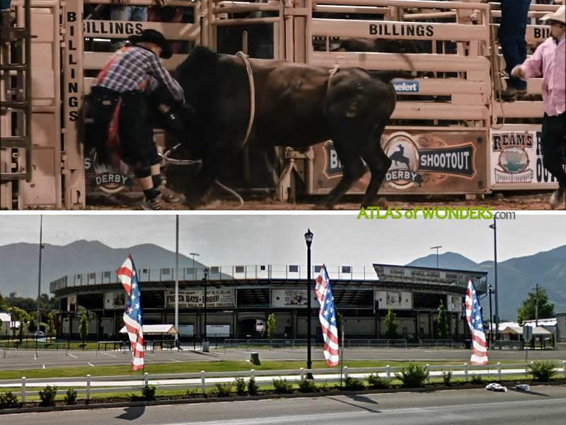 Bull ride arena