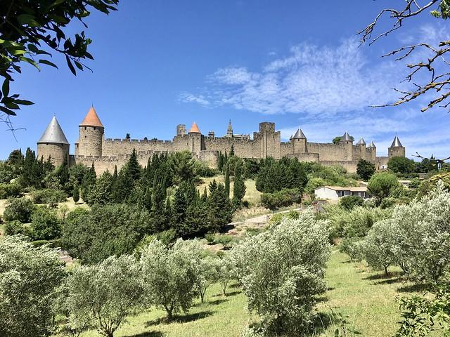Vue d'ensemble de la cité médiévale de Carcassonne