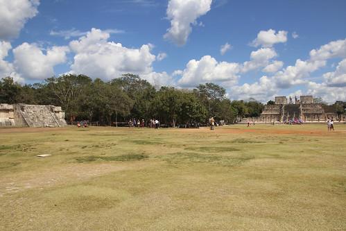 Main grass area connecting structures, Chichen Itza, Mexico's Yucatán Peninsula