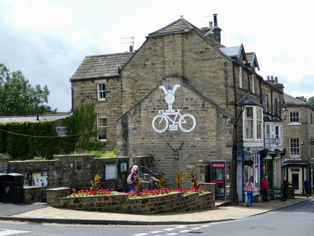 Grand Départ art work, Pateley Bridge