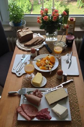 Frühstück nach Marktbesuch