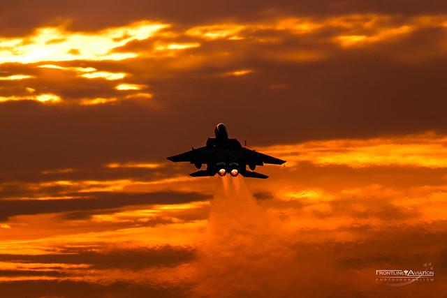 Dusk Departure, F-15E Strike Eagle, 48th FW