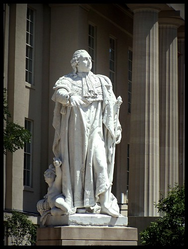 cbd central business district courthouse louisville kentucky ky king louis xvi france statue historical 200 years marble historic downtown town hall museum montpellier sister city onasill sky sunset clouds mayor us usa america gift metro sculpture outdoor nrhp register historcal