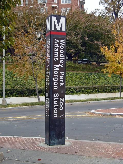 Woodley Park-Zoo station entrance pylon