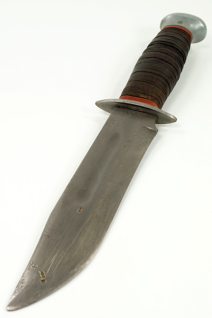 RD27840 Vintage WWII PAL USA RH-36 US Military Combat Fighting Knife Leather Wrapped Handle DSC08242