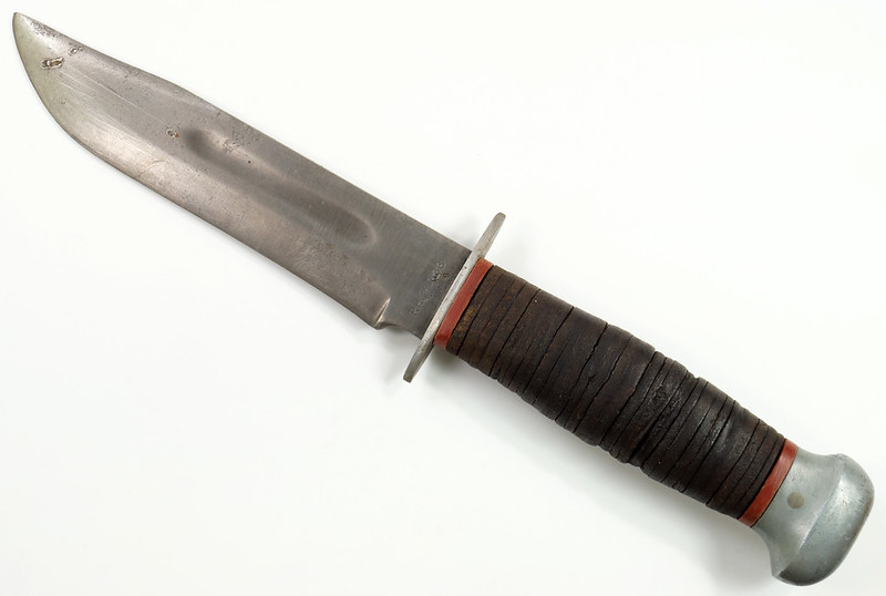 RD27840 Vintage WWII PAL USA RH-36 US Military Combat Fighting Knife Leather Wrapped Handle DSC08227