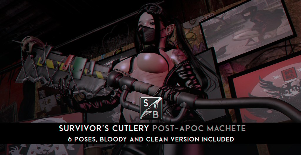 Skellybones – Survivor's Cutlery – Post-Apoc Machete @ Aenigma