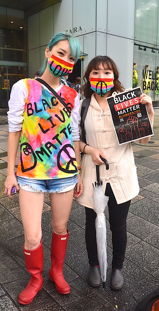 Colorful Japanese Black Lives Matter Supporters in Tokyo