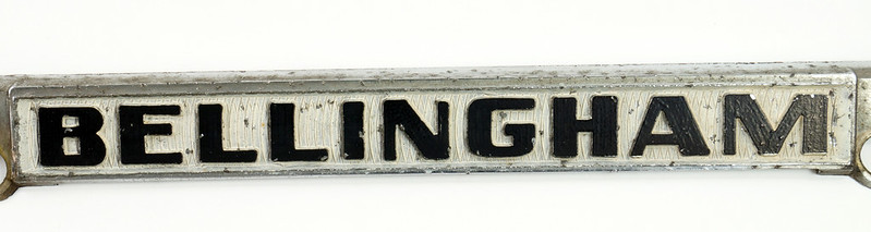 RD30484 Vintage Bellingham Import Motors i m License Plate Frame Steel DSC08223