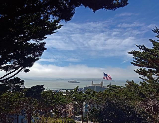 Alcatraz Below the Fog