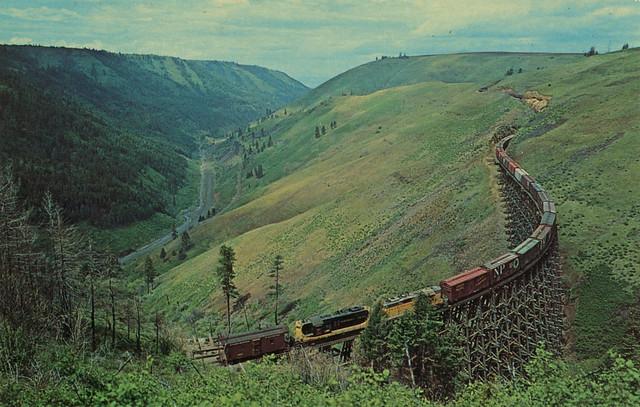 Lapwai Canyon, circa 1970 - Camas Prairie Railroad, Idaho