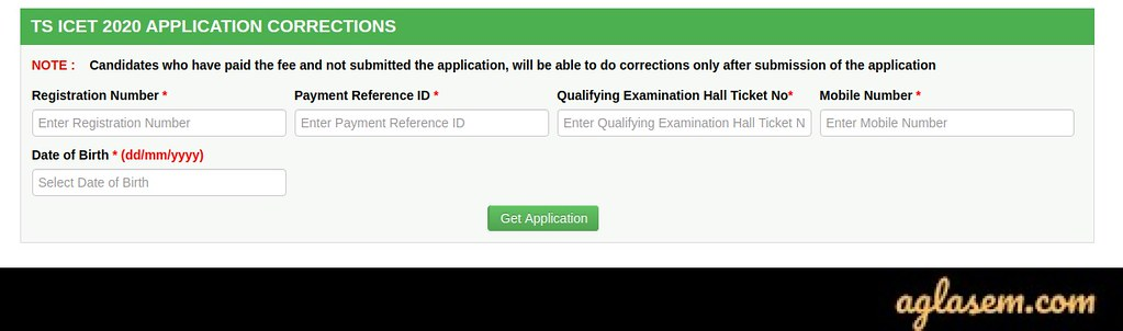 TS ICET 2020 Application Form Correction
