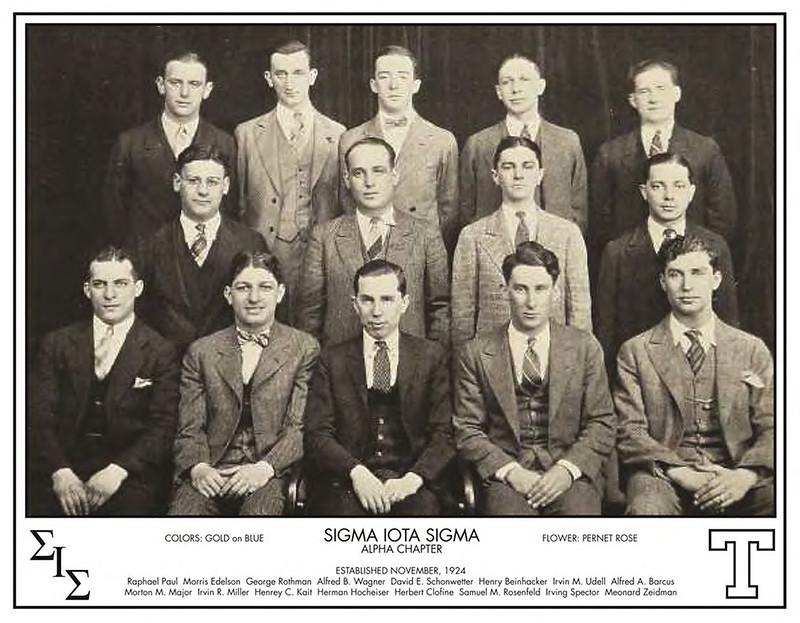 1924 Sigma Iota Sigma