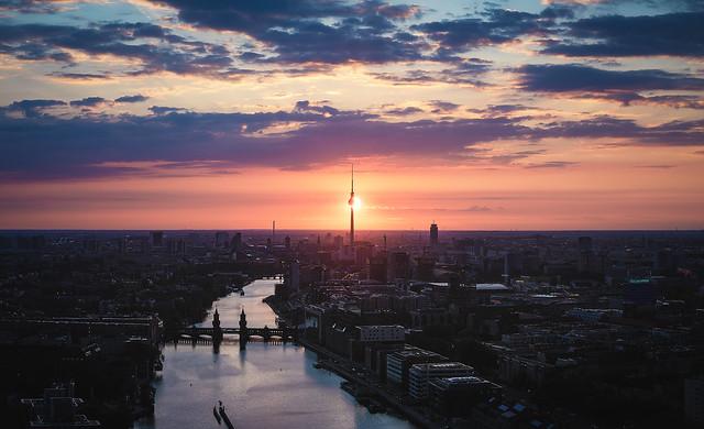 Berlin - Skyline Sunset Panorama