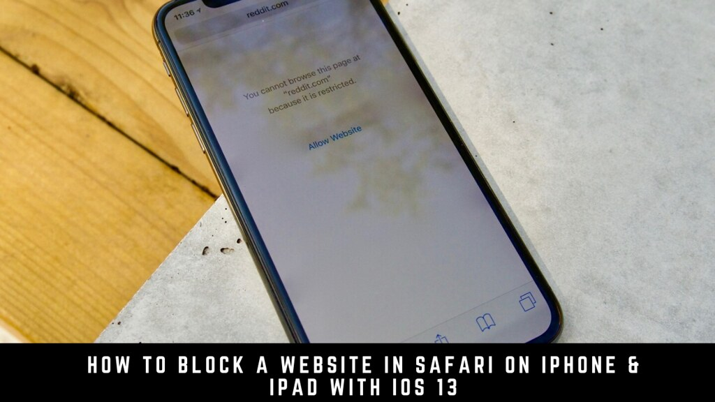 How to Block a Website in Safari on iPhone & iPad with iOS 13