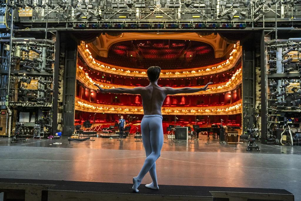 Vadim Muntagirov in rehearsal for Live from Covent Garden, 20 June 2020 ©2020 ROH. Photograph by Tristram Kenton