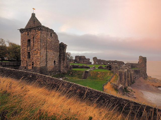 Sunset after the storm at St Andrews Castle...