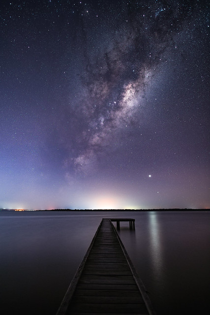 Milky Way rising over the Dawesville Estuary