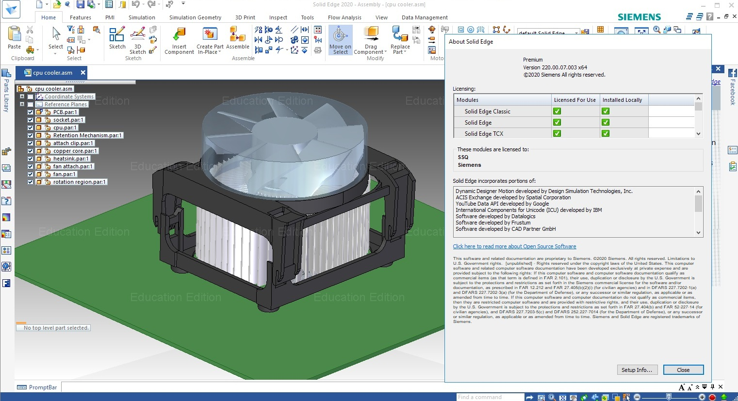 Working with Siemens Solid Edge 2020 MP07 full license