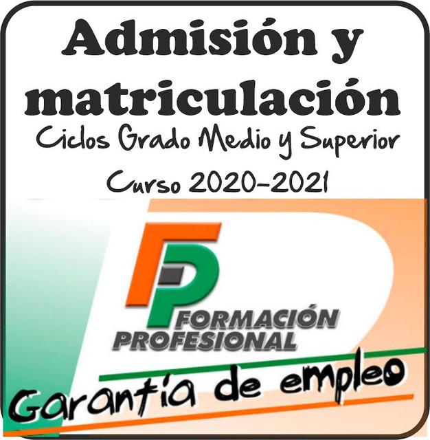 Admisión y matriculación Ciclos Formativos