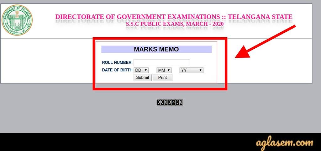 TS SSC results 2020 login