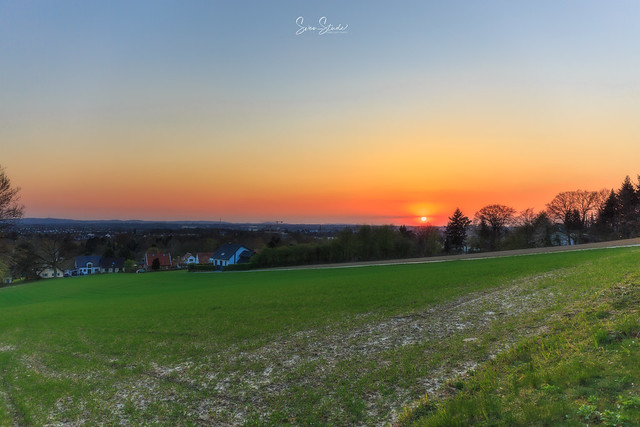 Sonnenuntergang in Herford