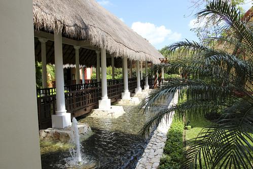 Covered walkways, Valentin Imperial Riviera Maya, Mexico