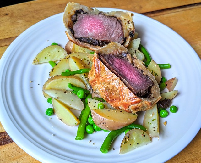 Prime Salt-Aged Beef Wellington from Chef Tommy Banks (cooked at home)